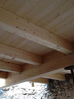 Sottotetto in legno a vista