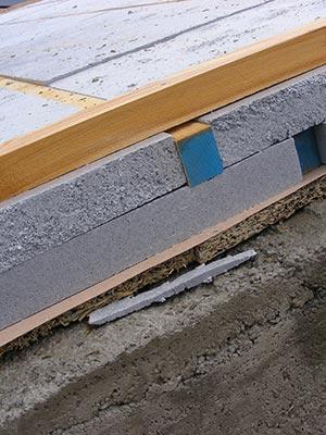 Pacchetto per l'isolamento termico di tetto in legno