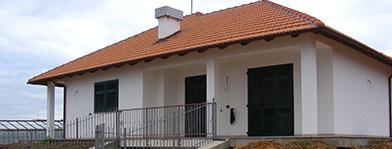 Una casa appena costruita